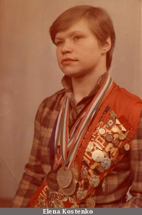 Olena with medals